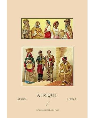 Discover Deals On Buyenlarge A Variety Of African Costumes 2 By Auguste Racinet Vintage Advertisement In Red Brown Size Oversized 41 Wayfair 0 587 12048 7c2842