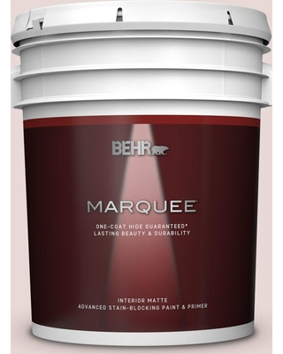BEHR MARQUEE 5 gal. #PPU17-07 Vienna Lace Matte Interior Paint and Primer in One