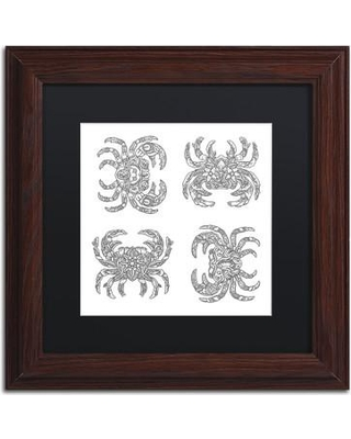 "Trademark Art 'Crabs' by Filippo Cardu Framed Graphic Art ALI2770-W1 Size: 11"" H x 11"" W x 0.5"" D Matte Color: Black"