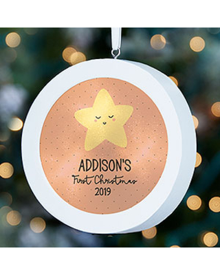 Twinkle, Twinkle Personalized Baby LED Light Ornament