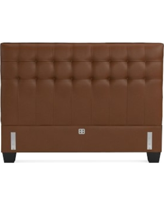 Fairfax Low Headboard Only, Queen, Tuscan Leather, Bourbon