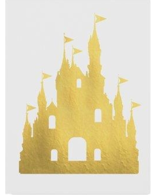 "Trademark Art 'Castle' Graphic Art Print on Wrapped Canvas ALI24361-C Size: 32"" H x 24"" W x 2"" D"