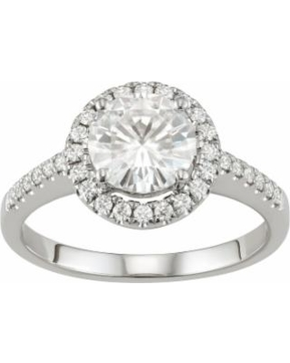 Sale Lab Created 0.66 Ct Diamond Engagement Ring Real 14k White Gold Cushion Cut Fine Rings