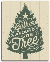 """Click Wall Art 'Gather Around the Tree - Wall' Textual Art on Plaque XMA0000113PLK Size: 20"""" H x 16"""" W x 1"""" D"""