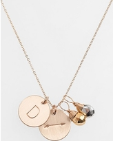 Women's Nashelle Pyrite Initial & Arrow 14K-Gold Fill Disc Necklace
