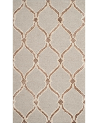 3'X5' Geometric Accent Rug Taupe/Ivory - Safavieh, Brown/Ivory