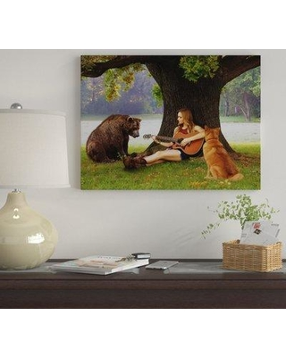 """Winston Porter 'Play for Us' Graphic Art Print on Wrapped Canvas WNST7248 Size: 14"""" H x 19"""" W"""