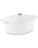 Le Creuset Signature Cast-Iron Oval Dutch Oven, 6 3/4-Qt., Matte White