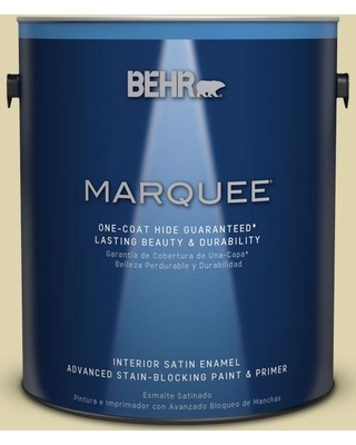 BEHR MARQUEE 1 gal. #MQ4-40 Primitive Green One-Coat Hide Satin Enamel Interior Paint and Primer in One