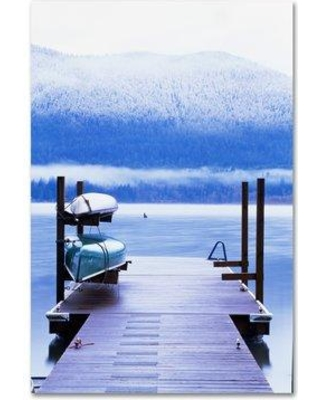 """Trademark Art 'Canoes' Photographic Print on Wrapped Canvas ALI19150-C Size: 24"""" H x 16"""" W"""