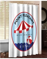 LauralHome Point Pleasant Shower Curtain PTP74SC / PTPII74SC Color: White