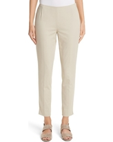 Women's Lafayette 148 New York 'Stanton' Slim Leg Ankle Pants, Size 10 - Beige