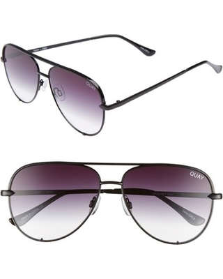 8e6318d75e Women s Quay Australia X Desi Perkins High Key Mini 57Mm Aviator Sunglasses  - Black  Fade