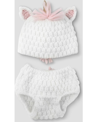 c02818be5 Huge Deal on Baby Girls' Unicorn Hat & Diaper Cover Set - Cloud ...