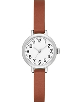 Women's Value Full Arabic Strap Watch - A New Day Silver