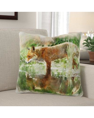 Millwood Pines Ana Fox Throw Pillow W000224315 Cover Material: Microsuede Location: Indoor