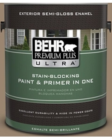 Can T Miss Bargains On Behr Ultra 1 Gal Mq2 48 Sturdy Brown Satin Enamel Exterior Paint And Primer In One