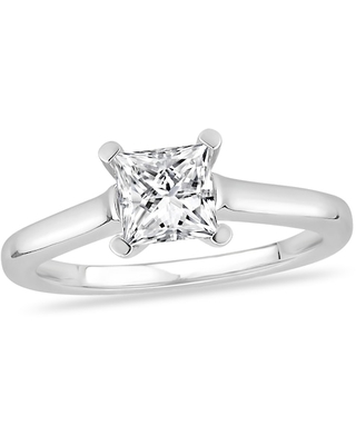 Jared Diamond Solitaire Engagement Ring 2-1/2 ct tw Princess-cut 14K White Gold