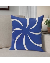 """The Holiday Aisle Decorative Holiday Geometric Print Throw Pillow HLDY5946 Color: Royal Blue, Size: 26"""" H x 26"""" W"""