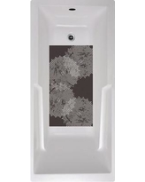 No Slip Mat by Versatraction Radial Pattern Bath Tub and Rectangle Non-Slip Geometric Shower mat CAZA-RDL1