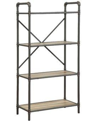 17 Stories Christofor Industrial Etagere Bookcase STSS7972