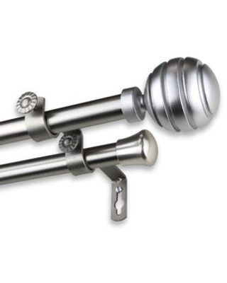 InStyleDesign Piper Adjustable Double Curtain Rod (28 to 48 inches - satin nickel)