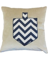 Red Barrel Studio Jessica Holiday Floor Pillow RBRS7311 Color: Chevron