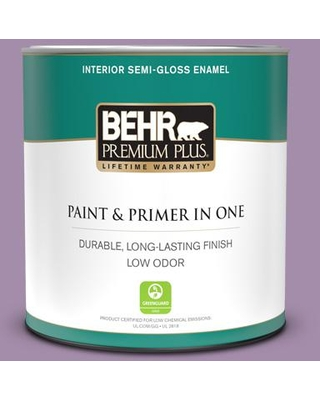 BEHR PREMIUM PLUS 1 qt. #M100-4 Aged to Perfection Semi-Gloss Enamel Low Odor Interior Paint and Primer in One