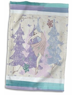 Shop Deals For Samson Ballerina Dancing With Snowflakes And Trees Hand Towel East Urban Home