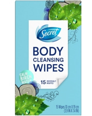 Secret Cleansing Wipes Calm Birch Water Scent, 15 Count - 15 ct | CVS