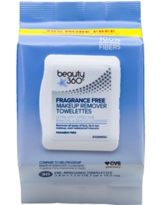 Beauty 360 Makeup Remover Wipe Fragrance-Free, 30/Pack - 30 ct | CVS