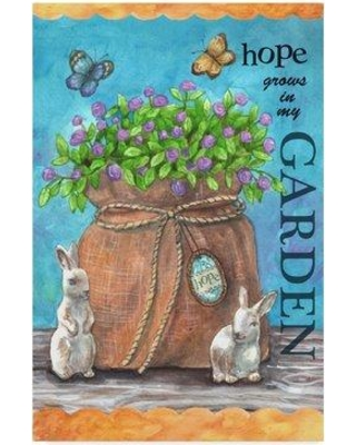 "Winston Porter 'Hope Garden' Acrylic Painting Print on Wrapped Canvas WNPO5518 Size: 24"" H x 16"" W x 2"" D"