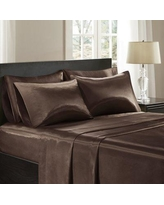 The Twillery Co. Cleary Satin 227 Thread Count 6 Piece Sheet Set W000287246 Size: Queen Color: Chocolate