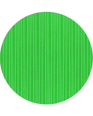 East Urban Home Striped Wool Green Area Rug X111485817 Rug Size: Round 5'