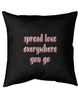 Great Prices For East Urban Home Spread Love Quote Chalkboard Style Suede Pillow Polyester Polyfill Leather Suede In Rainbow Size 16 X 16 Wayfair