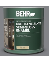 Sales For Behr 1 Gal Ae 52 Rising Smoke Urethane Alkyd Semi Gloss Enamel Interior Exterior Paint