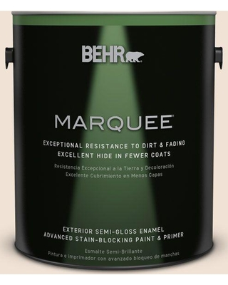 BEHR MARQUEE 1 gal. #N250-1 Clay Dust Semi-Gloss Enamel Exterior Paint and Primer in One