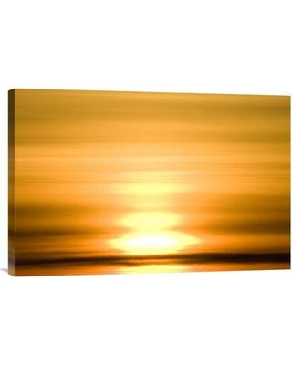 """East Urban Home 'Winter Sunset Over Tundra' Photographic Print on Canvas URBH8221 Size: 16"""" H x 24"""" W x 1.5"""" D"""