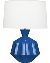 Robert Abbey Orion Marine Blue Ceramic Table Lamp