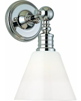 """Darien Polished Nickel and Opal 14"""" High Wall Sconce"""