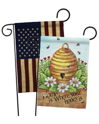 Deals On 2 Piece Bee Hive Home Friends Bugs And Frogs Impressions Decorative 2 Sided Polyester 19 X 13 Garden Flag Set Breeze Decor