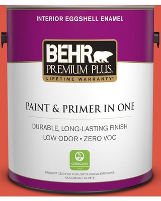 BEHR Premium Plus 1 gal. #T12-7 Red Wire Eggshell Enamel Low Odor Interior Paint and Primer in One
