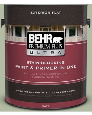 BEHR ULTRA 1 gal. #ICC-105 Dried Chervil Flat Exterior Paint and Primer in One