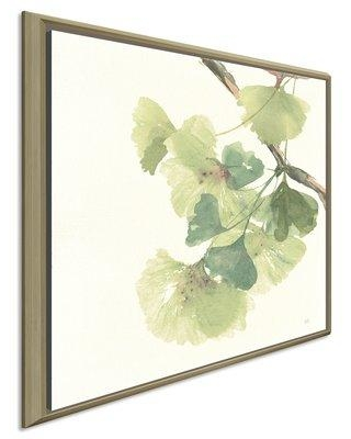 "Bloomsbury Market 'Ginkgo Leaves II Light' Watercolor Painting Print BLMK6285 Size: 39.5"" H x 39.5"" W x 2"" D Format: Framed Canvas"