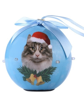 Dog Collection Twinkling Lights Christmas Ball Indoor Decorative Ornament