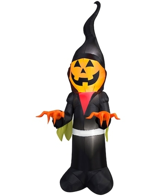 10Ft Airblown® Inflatable Halloween Scary Pumpkin Ghoul Reaper By Gemmy Industries | Michaels®