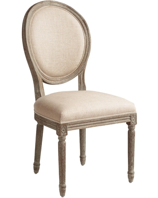 Round Back Paige Upholstered Dining Chair Set of 2: Blue by World Market