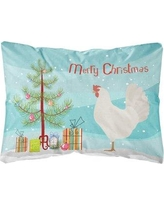The Holiday Aisle Gorham Leghorn Chicken Christmas Indoor/Outdoor Throw Pillow BF148710