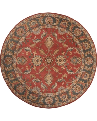 Artistic Weavers John Rust Red 6 ft. x 6 ft. Round Area Rug