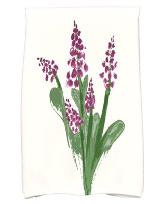 Simply Daisy, 16 x 25 inch, Bluebell Kitchen Towel, Purple